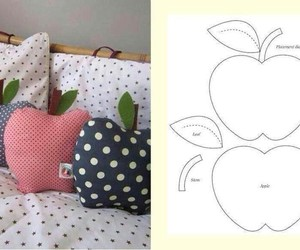 apple, pillow, and tutorial image