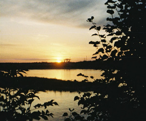 analog, photography, and sunset image