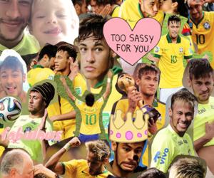 neymar, neymar jr, and brasil image