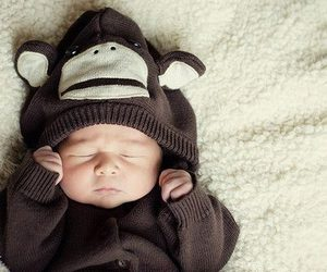baby, cute, and monkey image