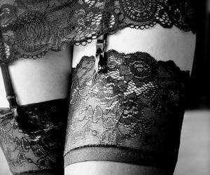 sexy, lace, and black image