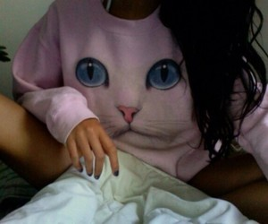 cat, pale, and soft grunge image