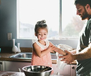 adorable, cooking, and daughter image