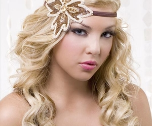 accessory, floral, and hair image