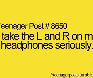funny, headphones, and teenager post image