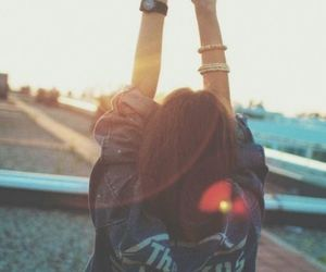 girl, sun, and hipster image