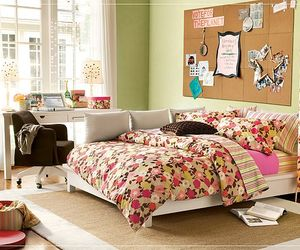bedroom, green, and read image