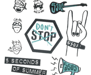 5sos, don't stop, and luke hemmings image