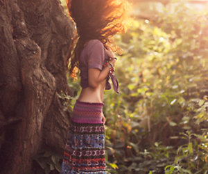 girl, hippie, and hair image