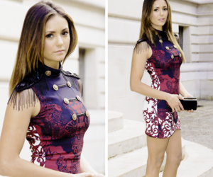 Nina Dobrev, dress, and the vampire diaries image