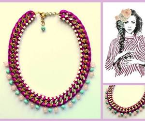 crochet, jewellery, and necklace image