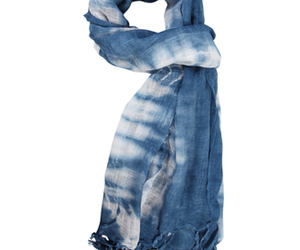 blue, scarf, and tie dye image