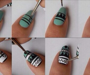nails, diy, and green image