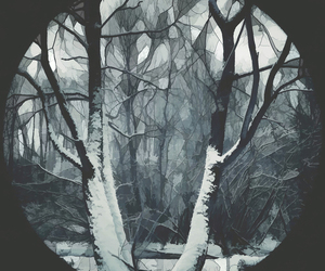 beauty, dark, and circle image