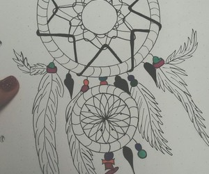 drawing, dream catcher, and summertime boredom image
