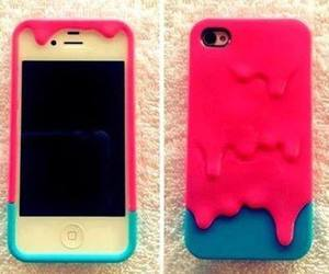 iphone, blue, and pink image