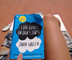 book, summer, and the fault in our stars image