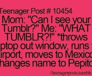 tumblr, funny, and mom image