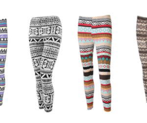 aztec, fashion, and leggings image
