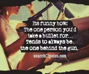 gun, bullet, and quote image
