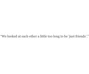 quote, love, and just friends image