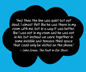 the fault in our stars, john green, and quote image