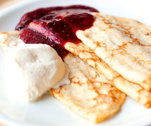 crepes, food, and pancakes image