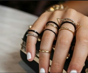 rings, nails, and gold image