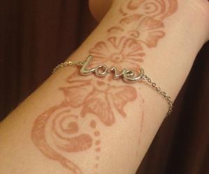 arm, festival, and henna tattoo image