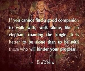 alone, Buddha, and me image