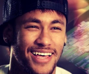 neymar, smile, and neymar jr image