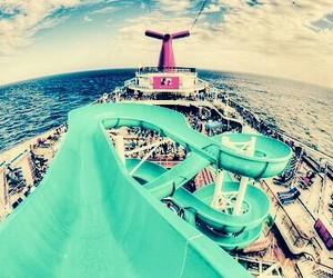 beach, ship, and wow image