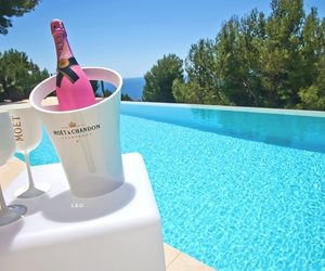 summer, pink, and moet image