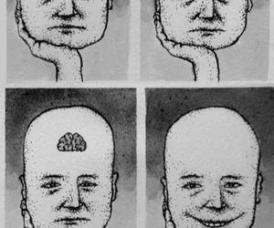 brain, happy, and sad image