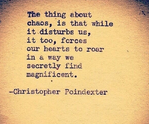 chaos, poetry, and christopher poindexter image