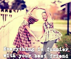 best friends, fun, and laugh image