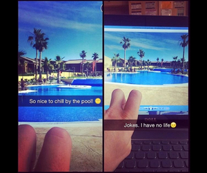 funny, pool, and summer image