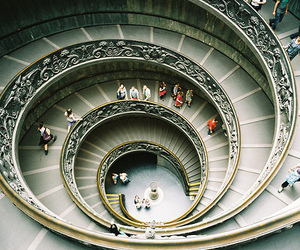 stairs, spiral, and photography image