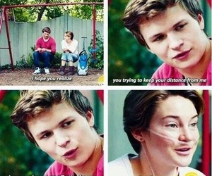 the fault in our stars, quote, and augustus waters image