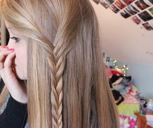 hair, tumblr, and blonde image