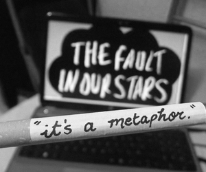 the fault in our stars, metaphor, and book image