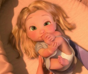baby, blonde, and disney image