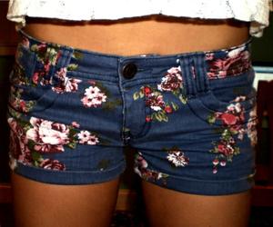 flowers, shorts, and short image
