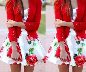 fashion, lovely, and red image