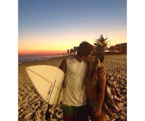surf, couple, and kiss image