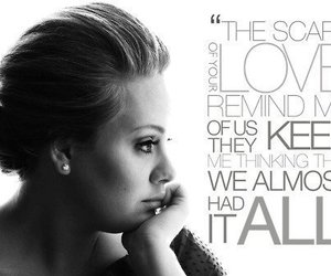 Adele, rolling in the deep, and Lyrics image