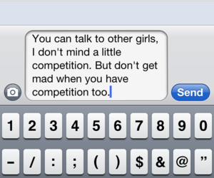 text, iphone, and message image
