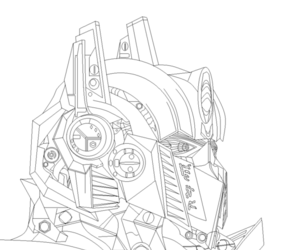 drawing, optimus prime, and mspaint image
