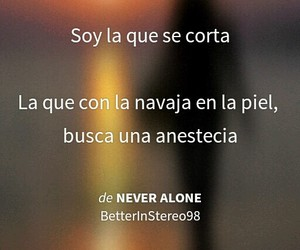 frases, never alone, and soy image