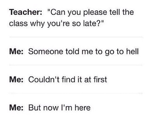 hell, me, and school image